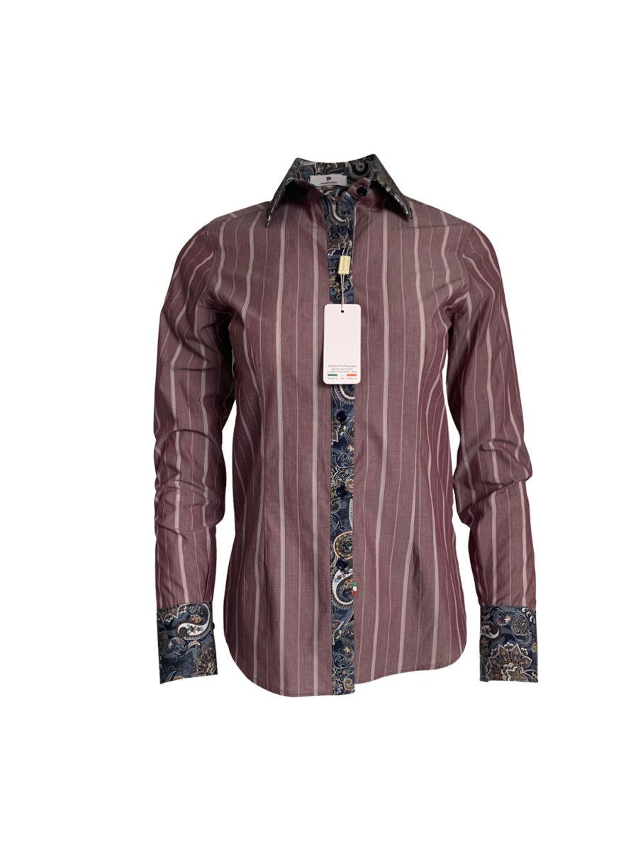 chemise bordeaux, rayure, original, coton, élégant, chic