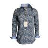 chemise motif, fleurs, coton, élégant, chic, été