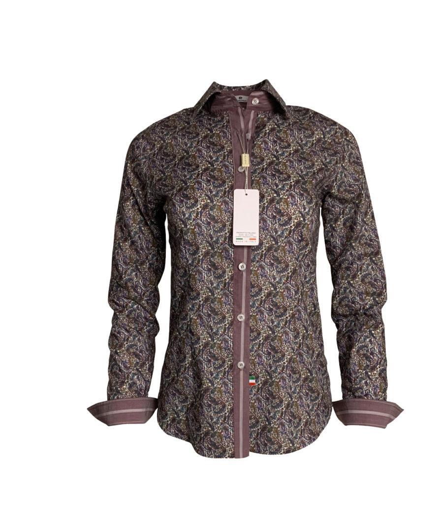 chemise bordeaux cachemire, original, coton, élégant, chic