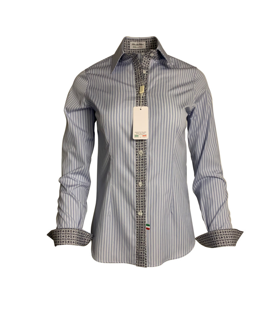 striped blue blouse - chemise rayure bleue - classic