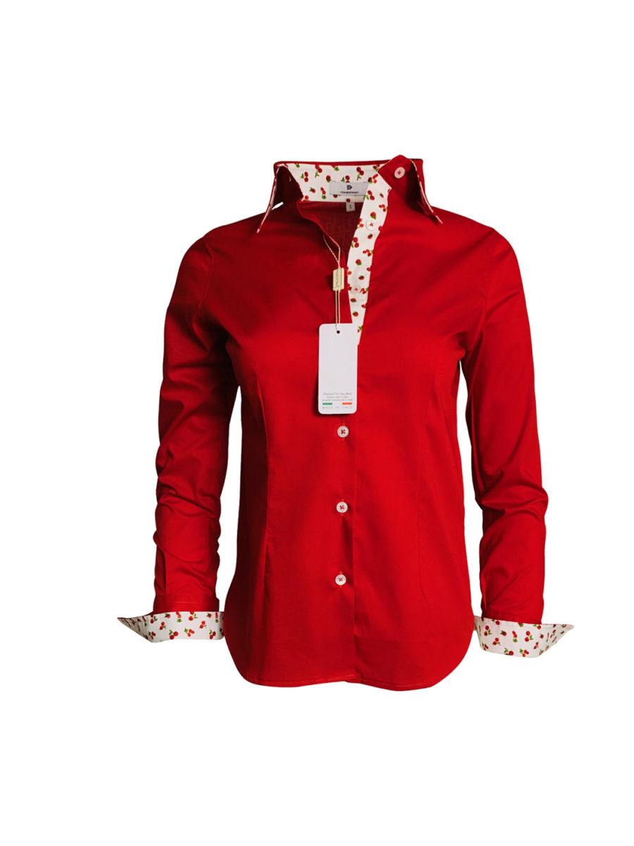 chemise rouge, cerise, original, coton, élégant, chic