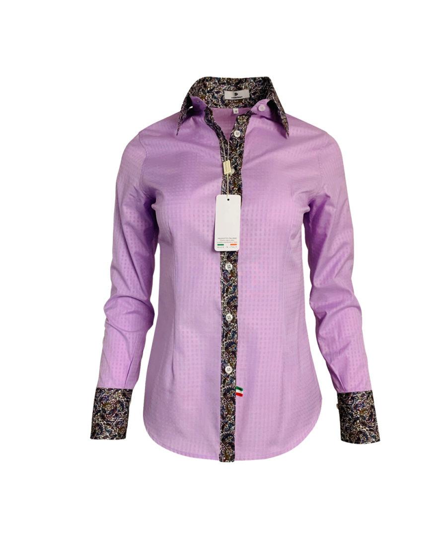 purple paisley blouse - chemise unie violet - elegant
