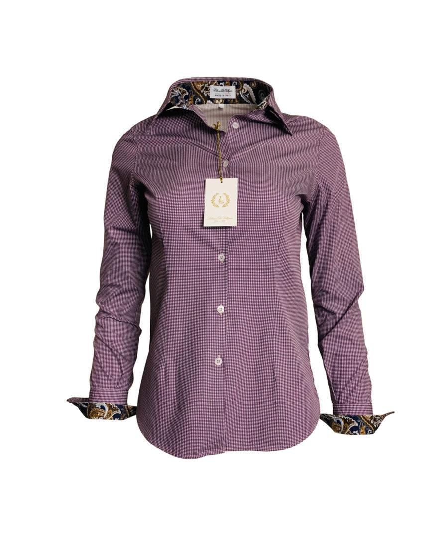 chemise motif, bordeaux, fantaisie, chic, élégant, coton, geneve