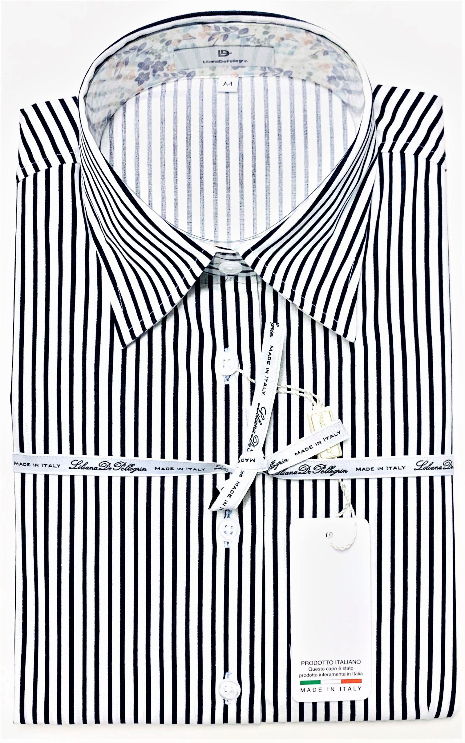 chemise rayure, marine, bleu, coton, élégant, chic