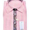 chemise rayure rose, cachemire, fantaisie, chic, élégant, coton